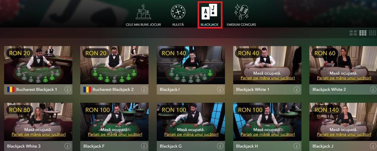 unde poti juca blackjack online