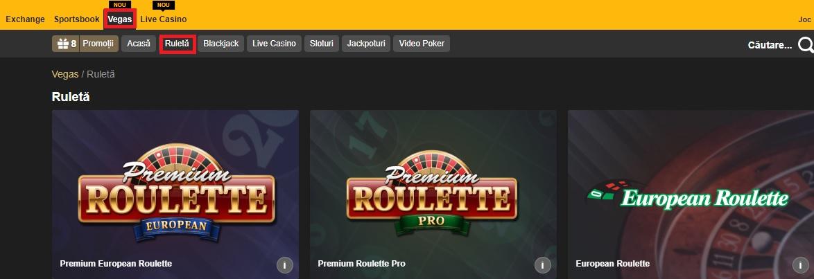ruleta la cazino online