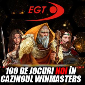 100 de jocuri noi EGT pot fi gasite acum pe Winmasters