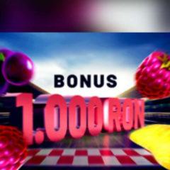 Joaca la pacanele si obtine 1 150 RON bonus zilnic