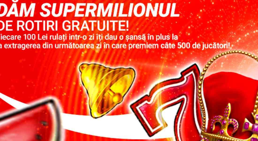 Ruleaza minim 100 RON zilnic in iunie si poti castiga super premii