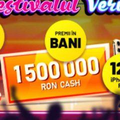 Premii totale de 375 000 RON, plus 4 telefoane iPhone 11 vor fi castigate in a treia saptamana a Festivalului Verii.