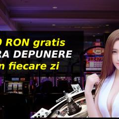 20 RON gratis FARA DEPUNERE in fiecare zi la cazino