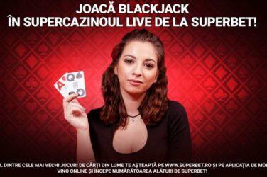 Joaca blackjack live si castiga 200 RON bonus zilnic