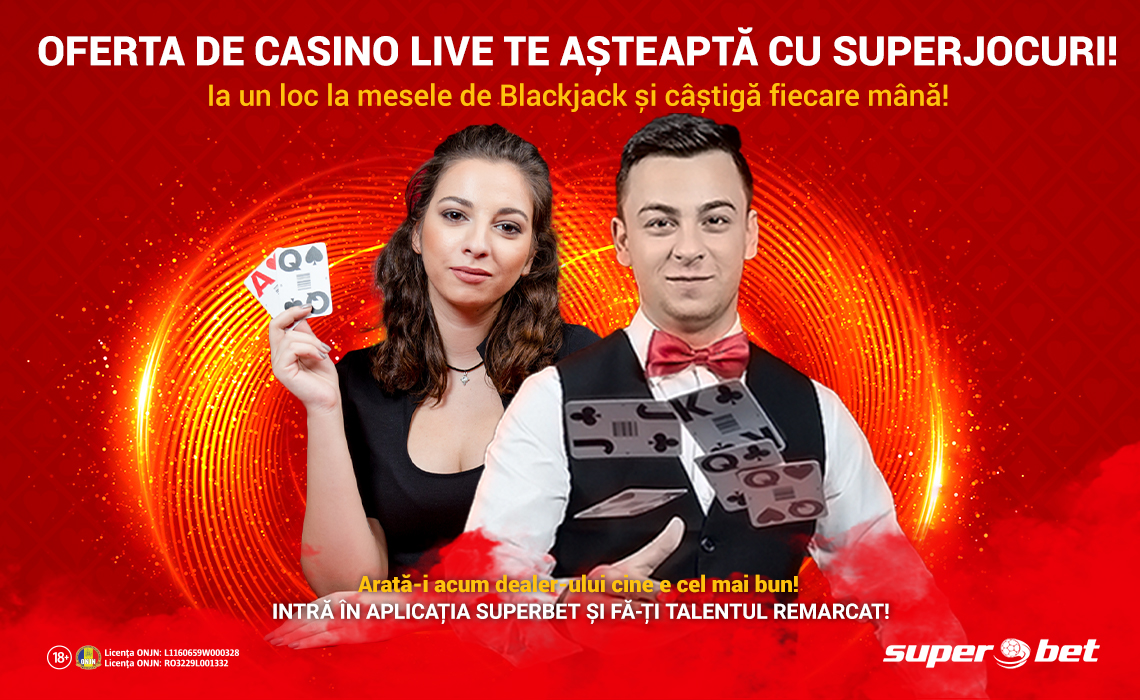 Castiga 75 lei bonus jucand Blackjack